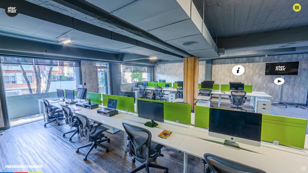 etermax oferece tour digital em 360º pelos escritórios da empresa