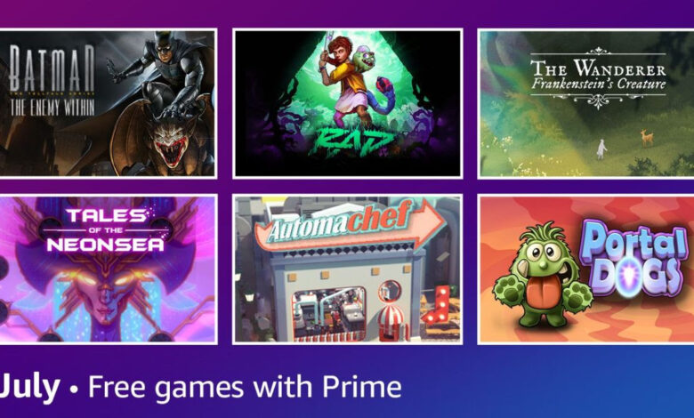 Prime Gaming julho 2021
